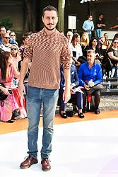 Milan Woman's Fashion Week Spring Summer 2018. Milano Fashion Woman, Spring Summer 2018. Missoni arrivals Pictured: Luca Bizzarri attending the Missoni catwalk show during Milan Fashion Week 2017