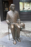 Oscar Wilde statue sitting on a bench, Galway City, Ireland
