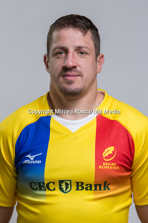 CLUJ-NAPOCA, ROMANIA, FEBRUARY 27: Romania's national rugby player Mihai Macovei pose for a headshot, on February 27, 2018 in Cluj-Napoca, Romania. (Photo by Mircea Rosca/Getty Images)