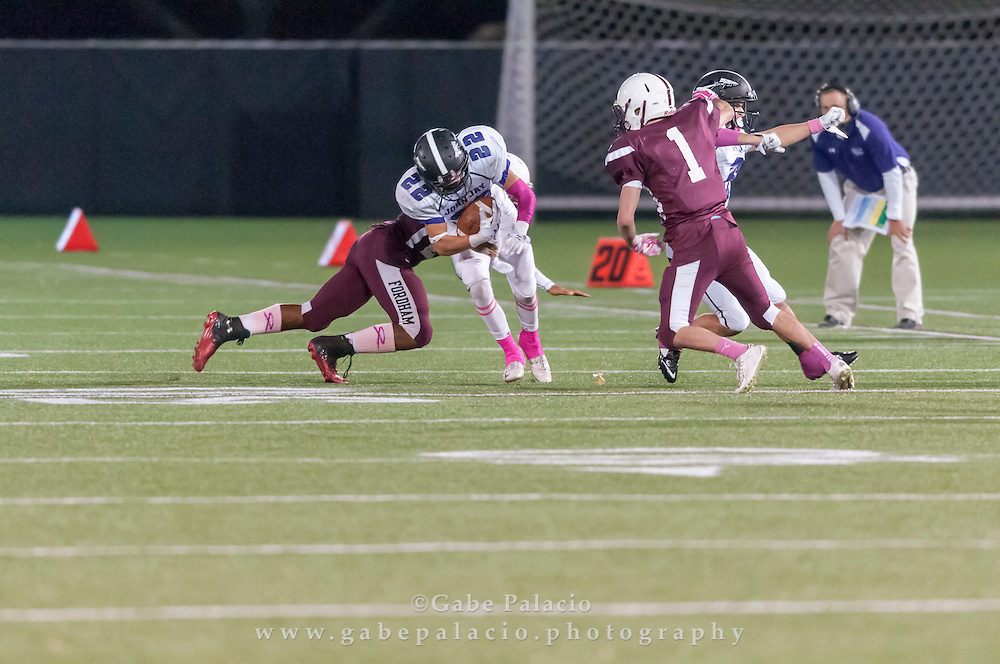 John Jay Varsity Football game at Fordham on October 10, 2014. (photo by Gabe Palacio)