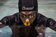 Cpmpétition d'apnée, Montréal, Québec, Canada.   Freediving competition, Montreal, Quebec, Canada.