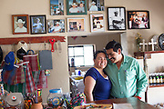 Lilia Falcón, left, and husband Bernardo Rogel, right, run the restaurant founded by her father José Falcon in 1973.