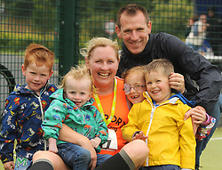 Lisa and Brian Clarken with their kids May, James Johnny and Billy at 'Last Man Running' which took place on the Westport greenway on saturday last<br /> Pic Conor McKeown