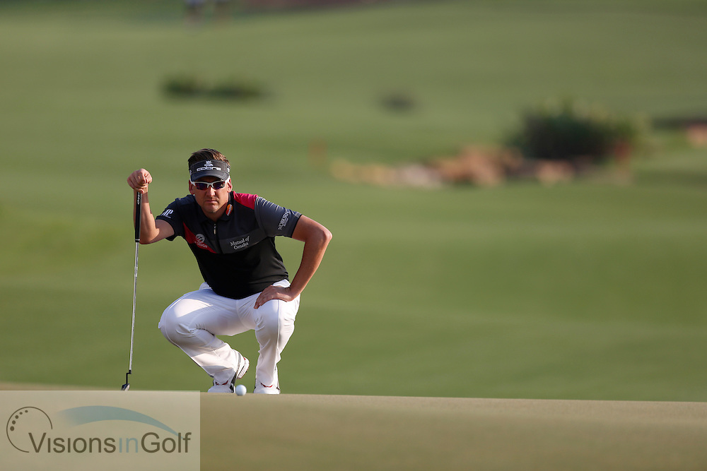 Ian Poulter<br /> during the second round of the Race To Dubai DP World Tour Golf Championship, Dubai, UAE November  2013<br /> Picture Credit:  Mark Newcombe / www.visionsingolf.com
