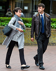 © Licensed to London News Pictures. 09/05/2017. London, UK. ANTHONY GRANT (right) leaves Isleworth Crown Court in London where he and CAROLA CONTI (not pictured) were sentenced for threatening and abusive manner towards a member of cabin staff while on a flight from Heathrow to Malaysia. The couple forced a flight from Malaysia to be diverted when they swore at crew and passengers in a row over a broken TV screen. Photo credit: Ben Cawthra/LNP