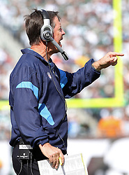 Oct 23, 2011; East Rutherford, NJ, USA; San Diego Chargers head coach Norv Turner during the first half of their game against the New York Jets at MetLife Stadium.