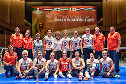 16-07-2018 NED: World Championship sitting volleyball women, Arnhem<br /> Netherlands - Rwanda 3-0 / Oranje op de foto met Prinses Margriet