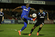 AFC Wimbledon striker Tom Elliott (9) during the Sky Bet League 2 match between AFC Wimbledon and Portsmouth at the Cherry Red Records Stadium, Kingston, England on 26 April 2016.