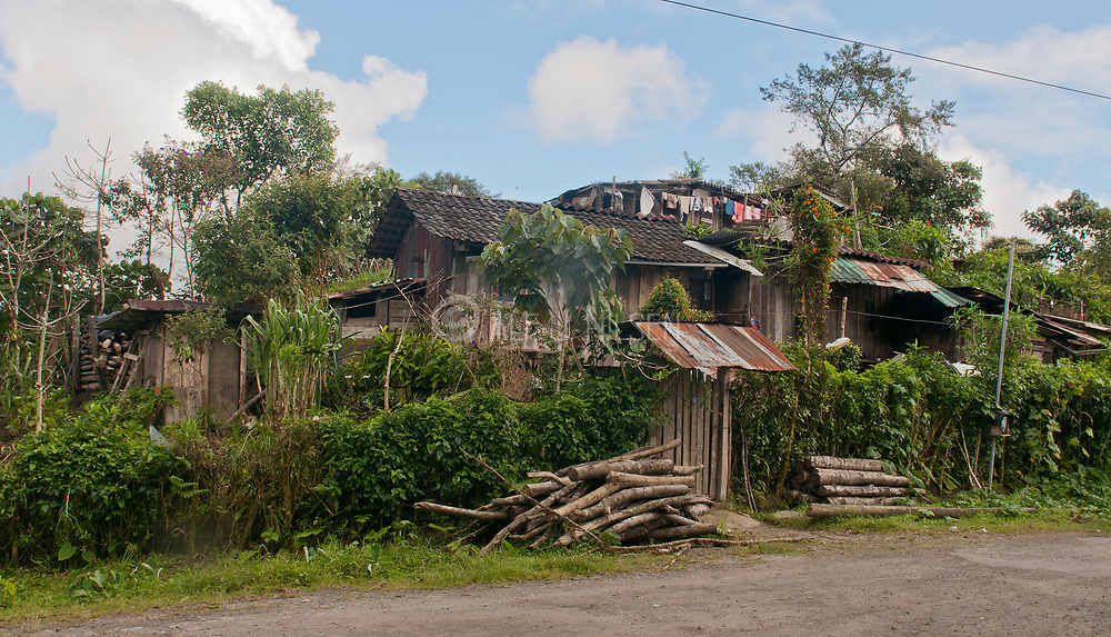 Local private building close to Yanacocha Reserve, Ecuador.