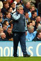 Fotball<br /> Premier League England 2004/2005<br /> Foto: BPI/Digitalsport<br /> NORWAY ONLY<br /> <br /> Manchester City v Arsenal<br /> FA Barclays Premiership. 25/09/2004.<br /> A worried looking Kevin Keegan