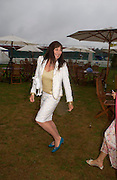 Angelica Huston. Cartier International Day at Guards Polo Club, Windsor Great Park. July 24, 2005. ONE TIME USE ONLY - DO NOT ARCHIVE  © Copyright Photograph by Dafydd Jones 66 Stockwell Park Rd. London SW9 0DA Tel 020 7733 0108 www.dafjones.com
