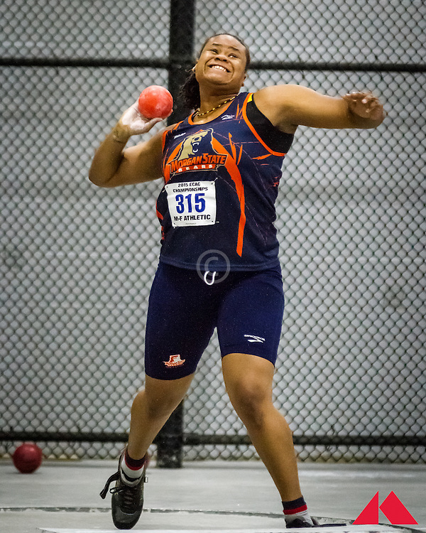 ECAC Indoor Champs, womens shot put, Morgan State