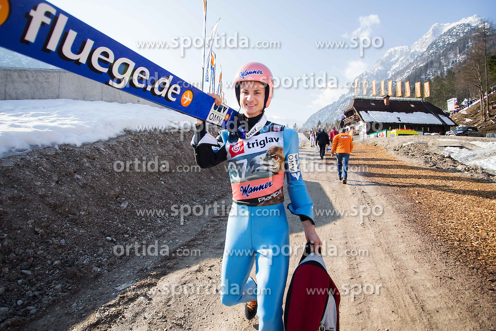 Manuel Fettner of Austria during the Ski Flying Individual Qualification at Day 1 of FIS World Cup Ski Jumping Final, on March 19, 2015 in Planica, Slovenia. Photo by Ziga Zupan / Sportida