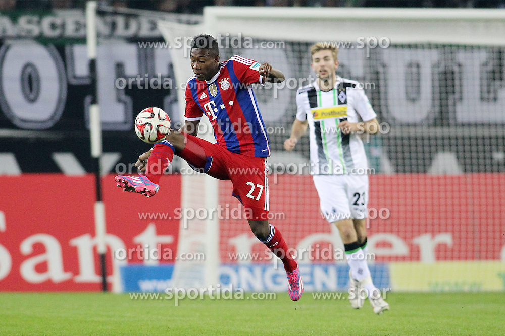 26.10.2014, Borussia Park, Moenchengladbach, GER, 1. FBL, Borussia Moenchengladbach vs FC Bayern Muenchen, 9. Runde, im Bild David Alaba (FC Bayern Muenchen #27) // 15054000 during the German Bundesliga 9th round match between Borussia Moenchengladbach and FC Bayern Muenchen at the Borussia Park in Moenchengladbach, Germany on 2014/10/26. EXPA Pictures &copy; 2014, PhotoCredit: EXPA/ Eibner-Pressefoto/ Schueler<br /> <br /> *****ATTENTION - OUT of GER*****