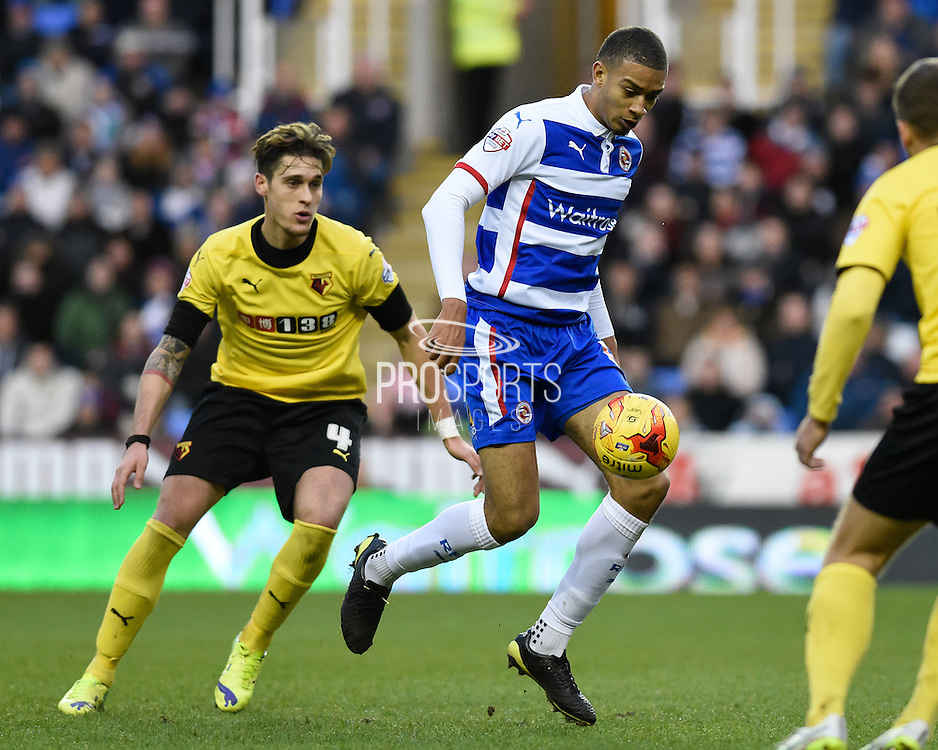 Nick Blackman during the Sky Bet Championship match between Reading and Watford at the Madejski Stadium, Reading, England on 20 December 2014. Photo by David Charbitt.