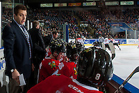 KELOWNA, CANADA - JANUARY 21: Oliver David, assistant coach of the Portland Winterhawks stands on the bench against the Kelowna Rockets on January 21, 2017 at Prospera Place in Kelowna, British Columbia, Canada.  (Photo by Marissa Baecker/Shoot the Breeze)  *** Local Caption ***