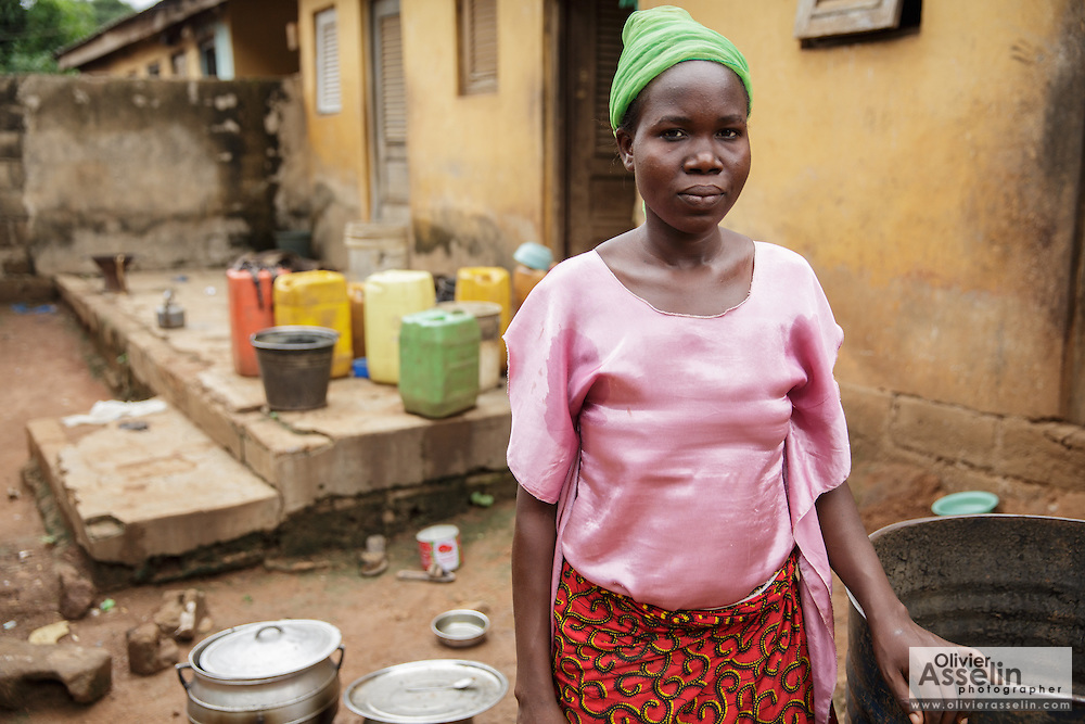 Christine Koné, 26, at her home in the town of Katiola, Cote d'Ivoire on Friday July 12, 2013. Christine underwent FGM as a child and now suffers from incontinence. She says she would never allow her daughter to undergo the procedure.