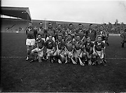 05/11/1961<br /> 11/05/1961<br /> 5 November 1961<br /> Oireachtas Final: Tipperary v Wexford at Croke Park, Dublin.<br /> Wexford team.