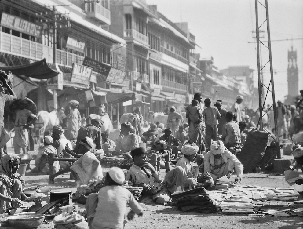 Chandni Chowk, Delhi, India, 1929