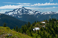 Mount Shuksan seen from Goat Mountain, Mount Baker Wilderness, North Cascades Washington