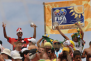Football-FIFA Beach Soccer World Cup 2006 - Group A-BRA_JPN -One of the  Brazil's fans that crowded the arena to atended the match against Japan- Rio de Janeiro - Brazil 05/11/2006<br />Mandatory credit: FIFA/ Marco Antonio Rezende.