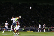 Sergio Romero Goalkeeper of Manchester United punches the ball clear during the EFL Cup Third Round match between Northampton Town and Manchester United at Sixfields Stadium, Northampton, England on 21 September 2016. Photo by Phil Duncan.