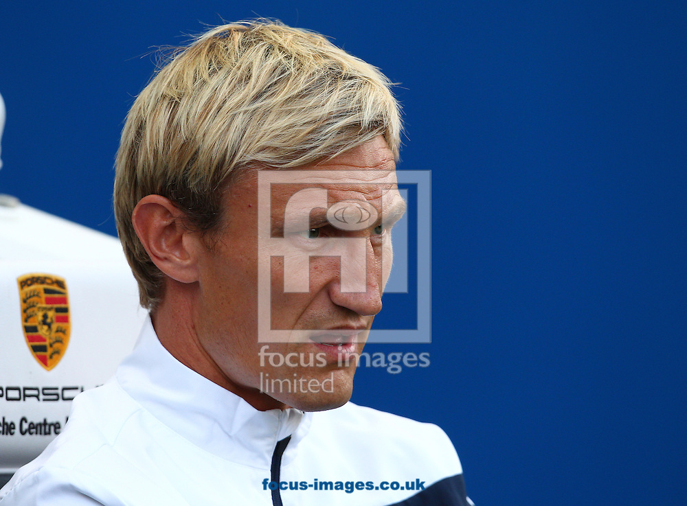 Sami Hyypia, Manager of Brighton and Hove Albion during the Capital One Cup match at the American Express Community Stadium, Brighton and Hove<br /> Picture by Paul Terry/Focus Images Ltd +44 7545 642257<br /> 12/08/2014