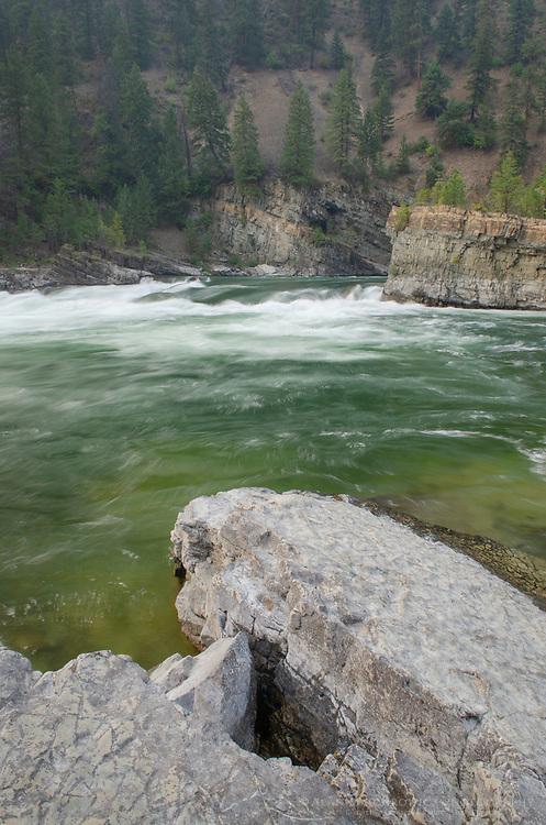 Kootenai Falls Montana, a series of cascades on the Kootenai River.