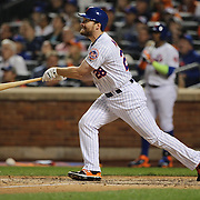Daniel Murphy, New York Mets, batting during the New York Mets Vs Los Angeles Dodgers, game four of the NL Division Series at Citi Field, Queens, New York. USA. 13th October 2015. Photo Tim Clayton