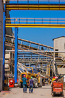Cullinan Diamond Mine, Cullinan, 30 km (19 mi) east of Pretoria The town is named after diamond magnate Sir Thomas Cullinan. Rocks are being moved to production area on conveyer belt.