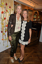 Left to right, LISA BUTCHER and HEATHER KERZNER at the 3rd annual Gynaecological Cancer Fund Ladies Lunch at Fortnum & Mason, 181 Piccadilly, London on 29th September 2016.