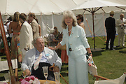 Leo and Jilly Cooper, Cartier International Polo. Guards Polo Club. Windsor Great Park. 30 July 2006. ONE TIME USE ONLY - DO NOT ARCHIVE  © Copyright Photograph by Dafydd Jones 66 Stockwell Park Rd. London SW9 0DA Tel 020 7733 0108 www.dafjones.com