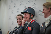Gemma Tattersall riding CHICO BELLA P who came first in the British Equestrian Trade Association CIC*** at Bramham International Horse Trials 2016 at Bramham Park, Bramham, United Kingdom on 12 June 2016. <br /> <br /> Gemma looks certain to be selected for the Olympic team for Rio.<br /> <br /> Photo by Mark P Doherty.