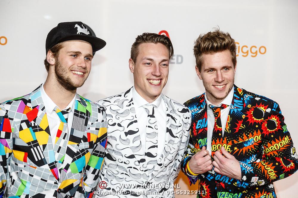 NLD/Amsterdam/20160307 - TV Beelden 2016, Ponkers, Jesper Kleynen, Noah Zeeuw en Marthijn Van Steinvoorn