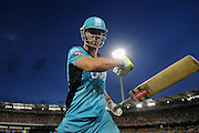 BRISBANE, AUSTRALIA - JANUARY 04:  Chris Lynn of the Heat punches his bat after being dismissed during the Big Bash league match between the Brisbane Heat and the Adelaide Strikers at The Gabba on January 4, 2015 in Brisbane, Australia.  (Photo by Matt Roberts/Getty Images)