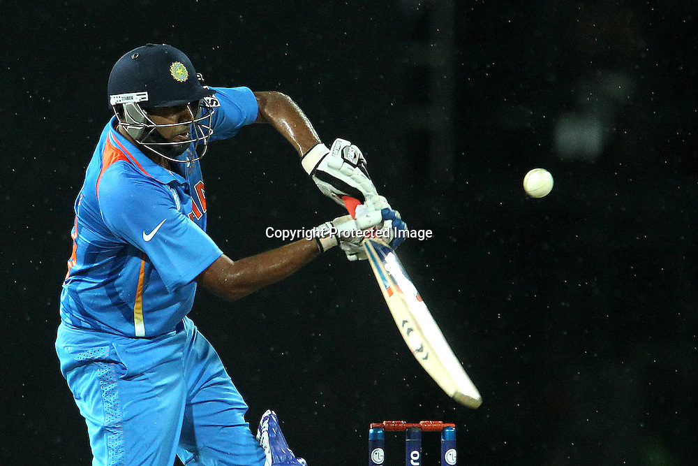 Ravichandran Ashwin during the ICC World Twenty20 Super 8s match between Australia and India held at the Premadasa Stadium in Colombo, Sri Lanka on the 28th September 2012<br /> <br /> Photo by Ron Gaunt/SPORTZPICS