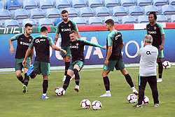 September 6, 2018 - Na - Loulé, 05/09/2018 - National Team AA: Preparation for the League of Nations: Adaptive training for the preparation match with Croatia at the Estádio Algarve. Pizzi; Bruno Fernandes; Mário Rui; (Credit Image: © Atlantico Press via ZUMA Wire)