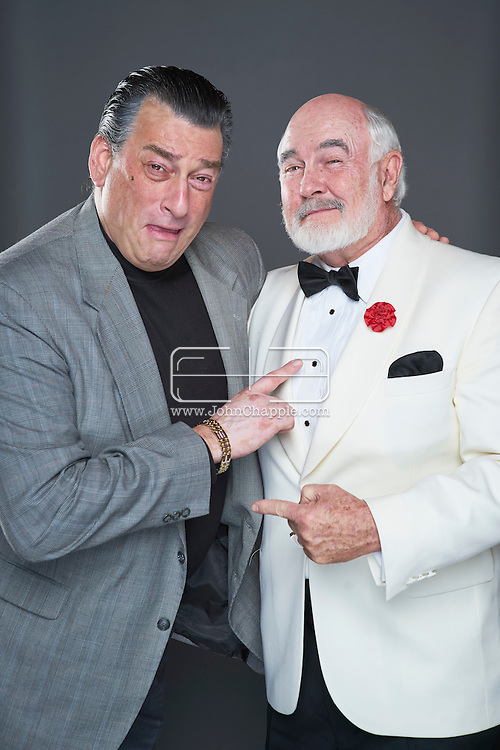 February 22, 2016. Las Vegas, Nevada.  The 22nd Reel Awards and Tribute Artist Convention in Las Vegas. Celebrity lookalikes from all over the world gathered at the Golden Nugget Hotel for the annual event. Pictured is  Robert De Niro lookalike, Robert Nash with Sean Connery lookalike, Dennis B. Keogh.<br /> Copyright John Chapple / www.JohnChapple.com /