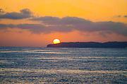 Sun Setting Over Dana Point Bluffs
