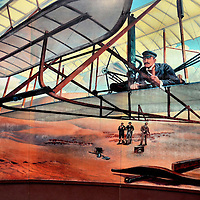 Orville Wright Painting of First Flight at Kill Devil Hills, North Carolina<br />