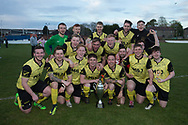 FC Menzieshill celebrate with the cup after beating Cairdy Thistle in the Trident Trophies league division 2 cup final at Glenesk, Dundee, Photo: David Young<br /> <br />  - &copy; David Young - www.davidyoungphoto.co.uk - email: davidyoungphoto@gmail.com