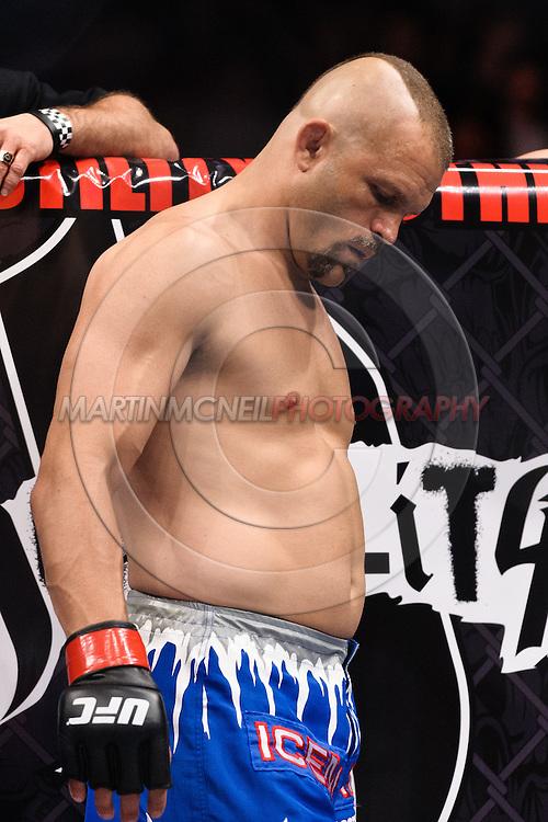 "ATLANTA, GEORGIA, SEPTEMBER 6, 2008: Chuck Liddell paces in his corner during ""UFC 88: Breakthrough"" inside Philips Arena in Atlanta, Georgia on September 6, 2008"