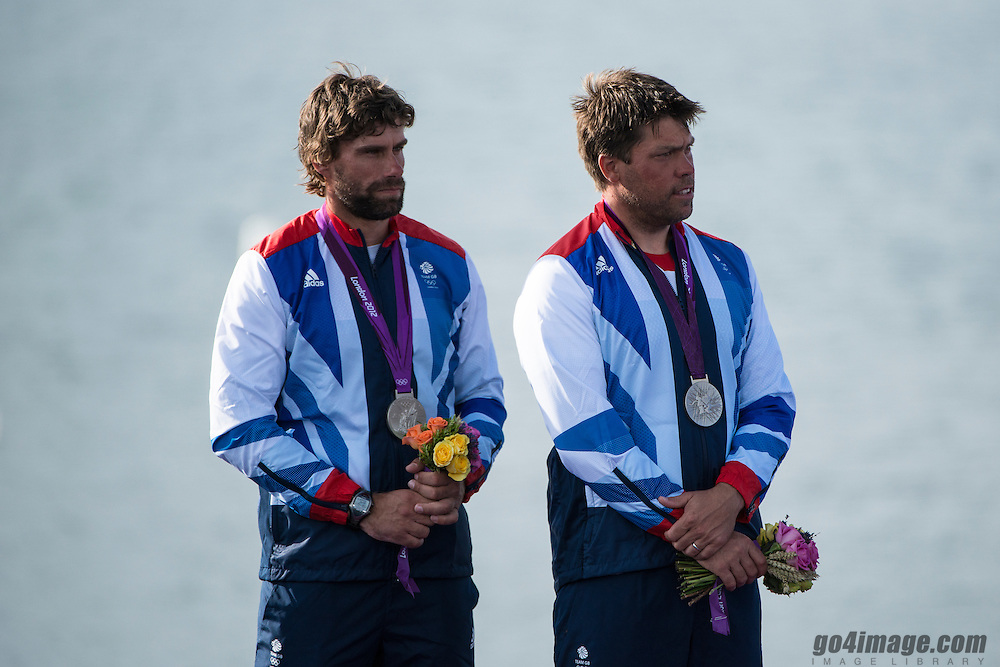 2012 Olympic Games London / Weymouth<br /> Medal Ceremony<br /> Percy Iain, Simpson Andrew, (GBR, Star)