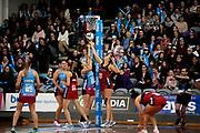 Tactix player Ellie Bird shoots during the Southern Steel v Mainland Tactix, ANZ Netball Premiership, Edgar Centre, Dunedin, New Zealand. June 24, 2018. Copyright Image: Derek Morrison / www.photosport.nz
