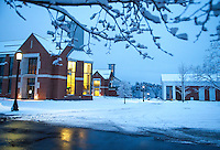 St Paul's School after a snowstorm January 16, 2013