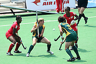 Jennifer Wilson during the women's hockey match of the The Commonwealth Games between South Africa and Trinidad and Tobago held at the Stadium in New Delhi, India on the  October 2010..Photo by:  Ron Gaunt/SPORTZPICS/PHOTOSPORT