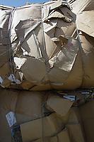 Tied up cardboard