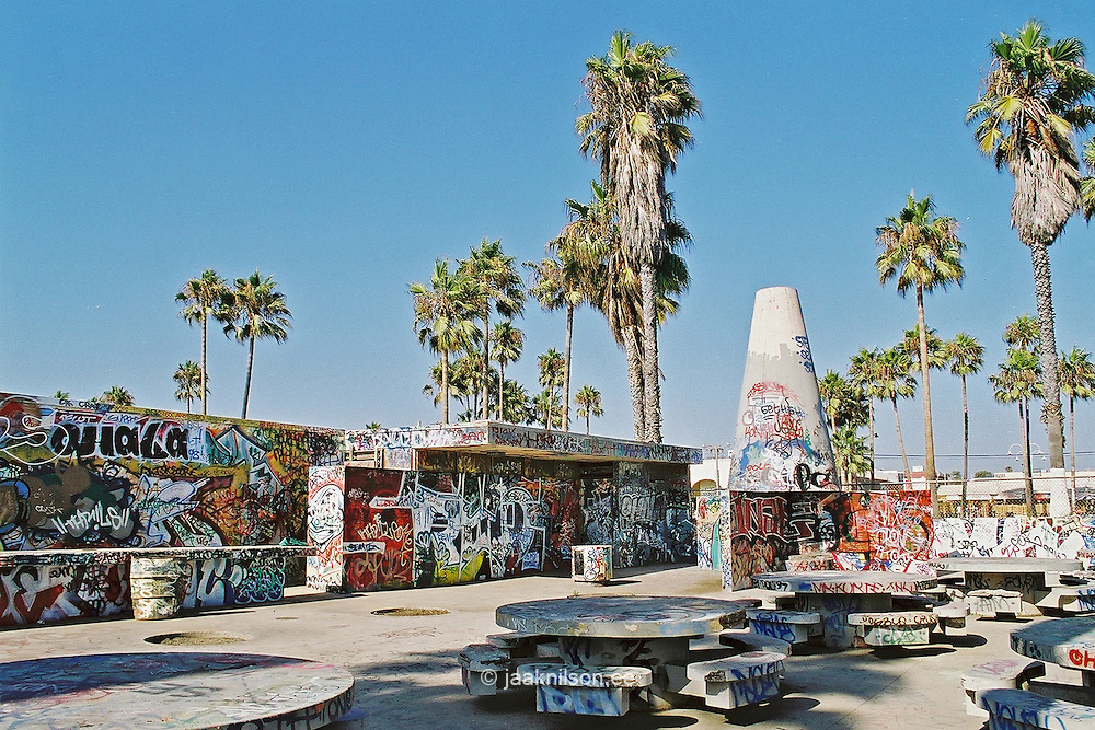Street Graffiti in Venice Beach, Los Angeles, California, USA