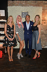 Left to right, DONNA AIR, AMBER LE BON, RAYMOND CLOOSTERMAN CEO of Rituals and TAMSIN EGERTON at the launch of the new Rituals store at 29 James Street, Covent Garden, London on 1st September 2016.