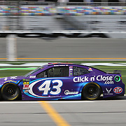 Darrell Wallace Jr., driver of the (43) Click n' Close Chevrolet,  is seen on pit row during practice for the 60th Annual NASCAR Daytona 500 auto race at Daytona International Speedway on Friday, February 16, 2018 in Daytona Beach, Florida.  (Alex Menendez via AP)